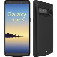 Galaxy Note 8 Battery Case, [5500mAh] Battery Charger Case, External Battery Backup Juice Pack Rechargeable Charger Case Pack Power Bank Cover For Samsung Galaxy Note 8 (6.2″)(2017) ( Black)