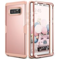 Galaxy Note 8 Case, YOUMAKER Rose Gold Full Body Heavy Duty Protection Shockproof Slim Fit Case Cover for Samsung Galaxy Note 8 (2017 Release) WITHOUT Built-in Screen Protector (Rose Gold/Pink)