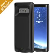 Samsung Galaxy Note 8 Battery Case,Wofalodata 5500mAh External Rechargeable Extended Power Bank Battery Charger Pack Backup Charging Cover Protective Case Shell for SM-N950F/DS(Black)